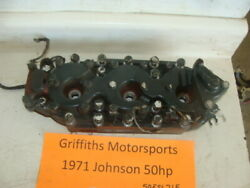 1971 72 73 74 75 Johnson 3cyl 50esl71e 50hp Cylinder Head Heads Cover Outboard