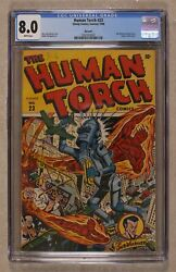 Human Torch Comics #23 CGC 8.0 Big Apple 1946 0261013007
