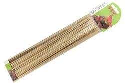 100 Bamboo Skewers Bbq Kebabs Satay Barbecue Meat Long Sticks 11 / 300 X 3mm