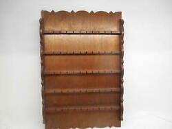 Old Vintage Collector Spoon Wood Display Wall Holder Holds 50 Spoons