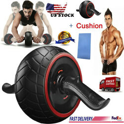 Abdominal Bomb Type Silent Giant Wheel Rubber Abdominal Muscle Roller+Cushion US