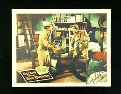 Escape From San Quentin Signed Lobby Card 8. 57/546. Desmond + Anders. 1957