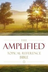 Amplified Topical Reference Bible, Hardcover By Zondervan Used