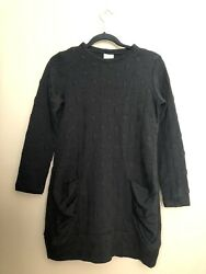 Niche Textured Dot Ruched Tunic Top Sz S Ponte Jersey Knit Art to Wear
