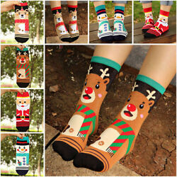 Christmas Socks Santa Claus Deer Xmas Kids Girl Boy Women Warm Funny Socks Gifts