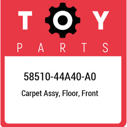 58510-44a40-a0 Toyota Carpet Assy Floor Front 5851044a40a0 New Genuine Oem Pa