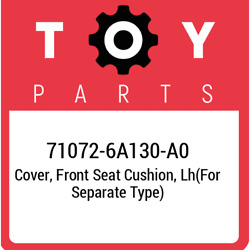 71072-6a130-a0 Toyota Cover Front Seat Cushion Lhfor Separate Type 710726a13