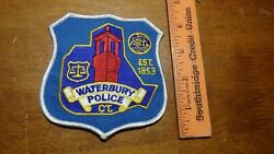 Waterbury Connecticut Police  Department Patch Bx K19