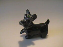 VINTAGE HAGEN RENAKER MINIATURE ALL BLACK JOCK LIKE SCOTTISH TERRIER DOG