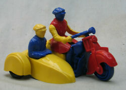 Vintage 1940's Plastic Nosco Motorcycle With Sidecar