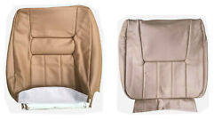 Front Seat Cover Upholstery For Volvo 940 960 Sedan Wagon Tan Leather 1991-1995
