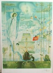 Salvandor Dali The Discovery Of America By Columbus Signed Edition Lithograph