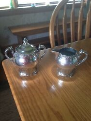 Pairpoint Silver Quadruple Plate New Bedford Mass. Sugar And Creamer