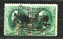 New Discovery! Complete South Hanson LOCOMOTIVE Fancy Cancel on BN Pair..Unique!