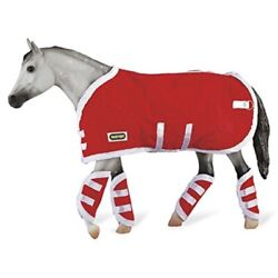 Breyer Traditional Blanket amp; Shipping Boots Horse Toy Accessory Set Red 1:9 S