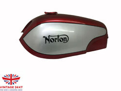 Norton Commando Fastback Red And Silver Painted Aluminum Gas Tank fit For