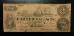 1856 2 Commercial Bank Perth Amboy New Jersey - Sailing Ships