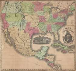 1851 Case And Company Map Of The United States