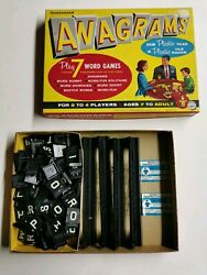Vintage 1957 Transogram Anagrams Play 7 Word Games Boxed 108 Tiles