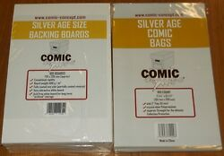 100 X Silver Age Comic Concept Bags And Boards Backing