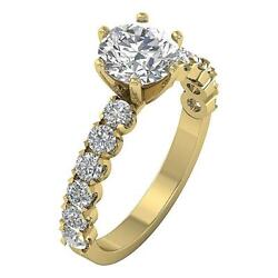 Solitaire Engagement Genuine Diamond Ring I1 G 2.50 Ct Appraisal 14k Solid Gold