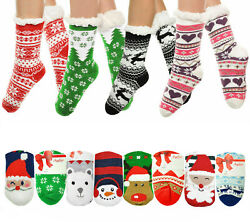 Angelina Women's 3 Pack Christmas Sherpa Lined Thermal Socks with Gift Tags