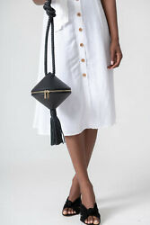 Neely And Burch No. 55 Spin Top Bag Black Pebble Leather Purse Nwt