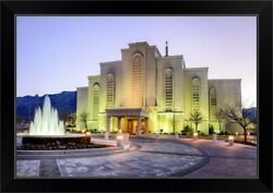 Albuquerque New Mexico Temple, Clear Black Framed Wall Art Print, New Mexico