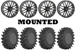 Kit 4 Sti Outback Max Tires 32x10-14 On System 3 St-3 Matte Black Wheels Irs