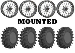 Kit 4 Sti Outback Max Tires 32x10-14 On System 3 St-3 Machined Wheels Irs