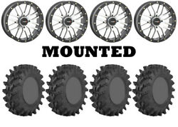 Kit 4 Sti Outback Max Tires 32x10-14 On System 3 St-3 Machined Wheels H700