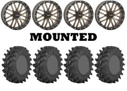 Kit 4 Sti Outback Max Tires 32x10-14 On System 3 St-3 Bronze Wheels H700
