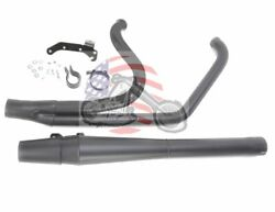 Black Thunderheader 2 Into 1 Exhaust Pipe Long Style 2009 Harley Touring Bagger