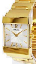 Concord Mens 18k Yellow Gold Quartz Bracelet Watch 50- C1-1451