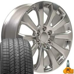 Polished 22 High Country Wheels Tires Tpms Fit 2019 Chevy