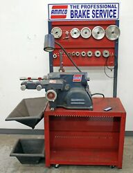 Ammco 7500 Rotor & Disc Brake Lathe w/ 3 Jaw DoubleChuck Adapter Kit & Bench