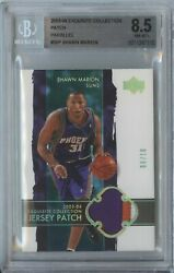 Shawn Marion 2003 04 Ud Exquisite Collection Gold Suns 3 Color Patch /10 Bgs 8.5