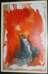 Sorceress Of The Witch World Paperback Painted Art Cover Prelim 1968 Jeff Jones