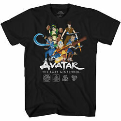 Avatar The Last Airbinder Group Officially Licensed Adult T Shirt $19.95