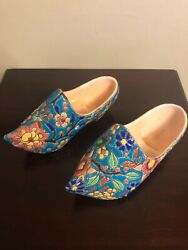 Vintage French Emaux De Longwy Porcelain Wall Pocket Shoes From Wwii Era