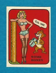 Vintage Original 1948 Souvenir Some Honey-----iand039ll Say Sexy Pinup Water Decal