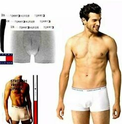 Tommy Hilfiger Men#x27;s 3 Pack Boxer Brief Cotton Stretch Trunk Underwear NEW