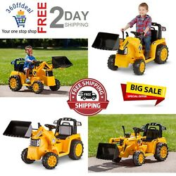 Construction Equipment Cat Tractor Bull Dozer Digger Ride On Toy For Kids Yellow