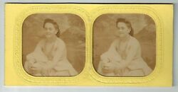 C Stereoview Photo Stereo Card Hold To Light French Tissue Nude Woman 1870-1890s