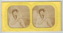 D Stereoview Photo Stereo Card Hold To Light French Tissue Nude Woman 1870-1890s