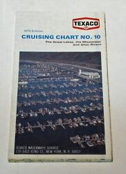 Texaco Cruising Chart No. 10 From 1973 Great Lakes Mississippi And Ohio Rivers