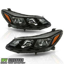 ALL BLACK 2016 2017 2018 Chevy Cruze Halogen Headlights Headlamps LeftRight