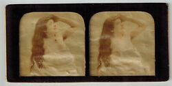 E Stereoview Photo Stereo Card Hold To Light French Tissue Nude Woman 1870-1890s