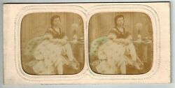 G Stereoview Photo Stereo Card Hold To Light French Tissue Nude Woman 1870-1890s