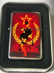 Russian Pinup Girl Windproof Dual Flame Torch Lighter